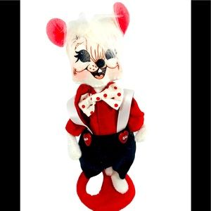 Annalee Sweetheart Boy Mouse Suspenders